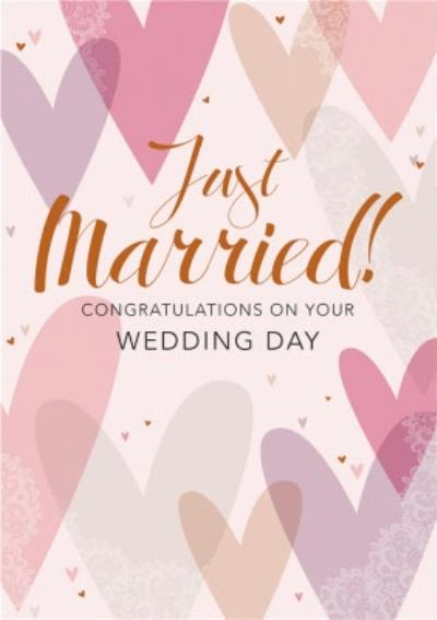 Just Married Congratualtions On Your Wedding Day Card