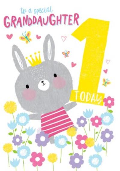 To A Special Daughter 1 Today Rabbit Birthday Card