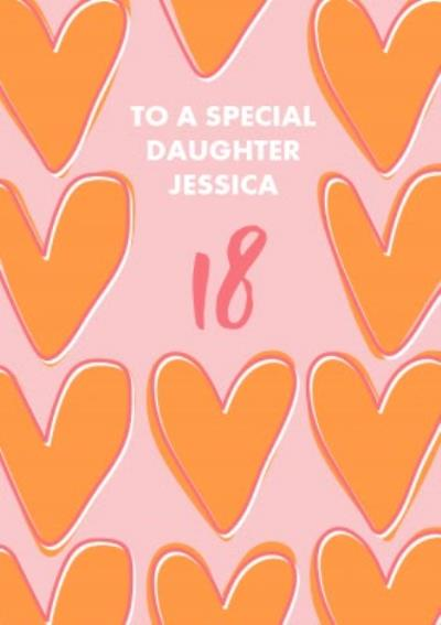 Abstract Hearts Special Daughter Birthday Card