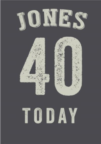 Personalised Greyscale 40th Birthday Card