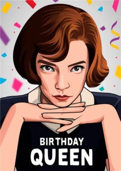 Birthday Queen Illustration Tv Chess Card