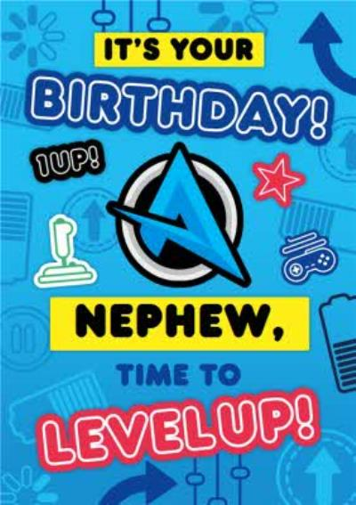 Ali A Gamers Its Your Birthday Nephew Time To Level Up Happy Birthday Card