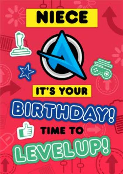Ali A Gamers Niece Its Your Birthday Time To Level Up Happy Birthday Card