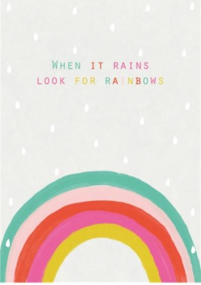 Thinking of you rainbows card