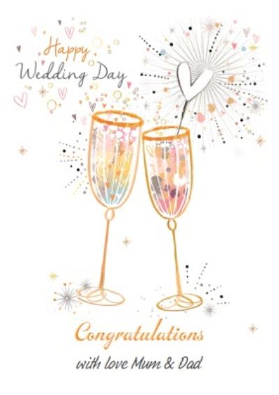 Happy Wedding Day - Congratulations Champagne