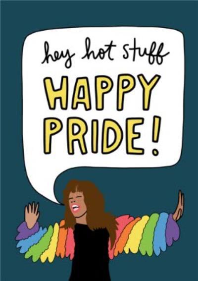 Angela Chick Hey Hot Stuff Pride Card
