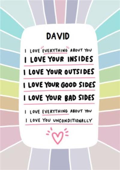 Angela Chick Rainbow LGBTQ+ Valentines Day Card