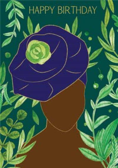 Anoela Nigerian Woman Illustration Birthday Card