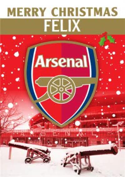 Arsenal FC Football Club Christmas Card