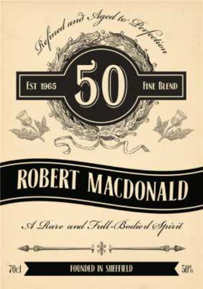50th Birthday Card - Whisky