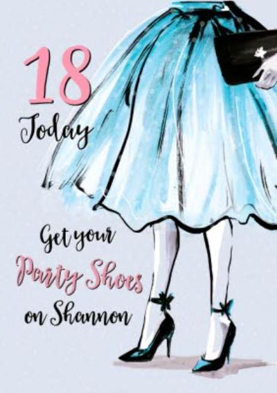 Fashion Illustration Birthday Card get your party shoes on