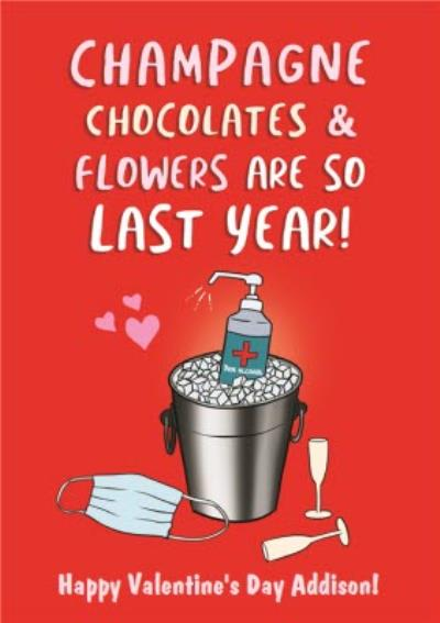 So Last Year Covid Funny Valentine's Card