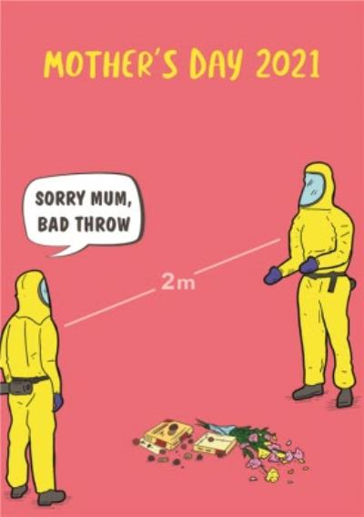 Funny Covid Bad Throw Mother's Day Card