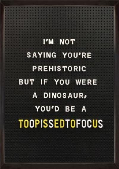 Peg Board Funny Dinosaur Birthday Card