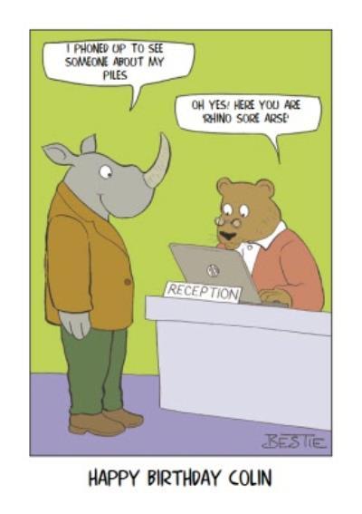 You Are Rhino Sore Pun Card