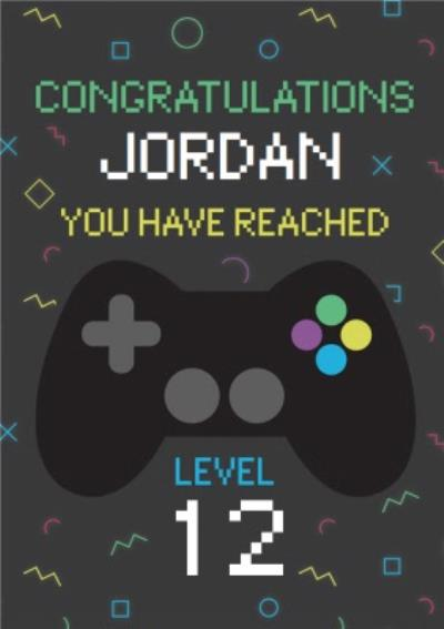 Gaming Congratulations You Have Reached Level Birthday Card