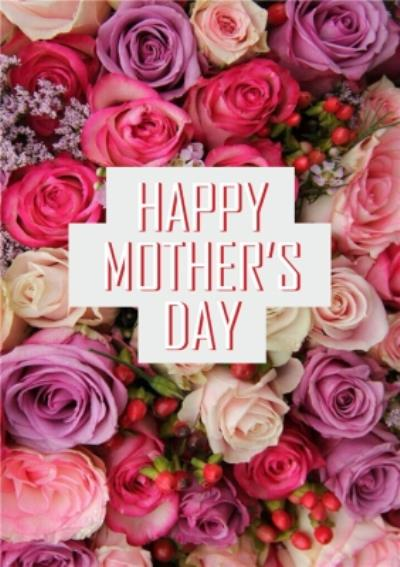 Happy Mothers Day Pretty Floral Card