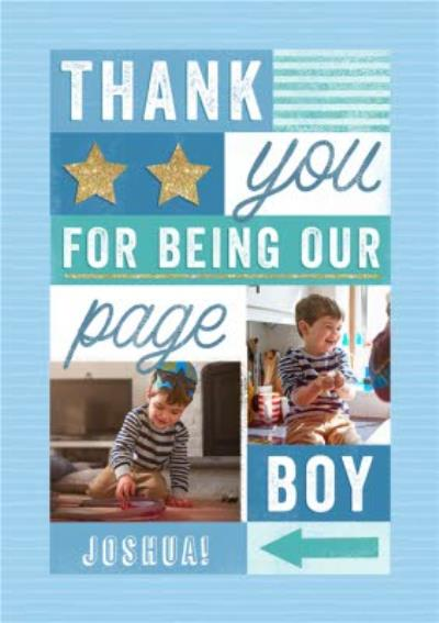 Page Boy Thank You Photo Upload Card