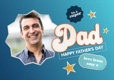 To A Super Stepdad Photo Upload Father's Day Card
