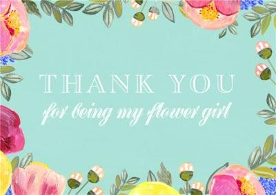 Botanic Border Personalised Thank You For Being My Flower Girl Card