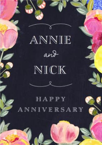 Happy Anniversary - Anniversary Card - Floral