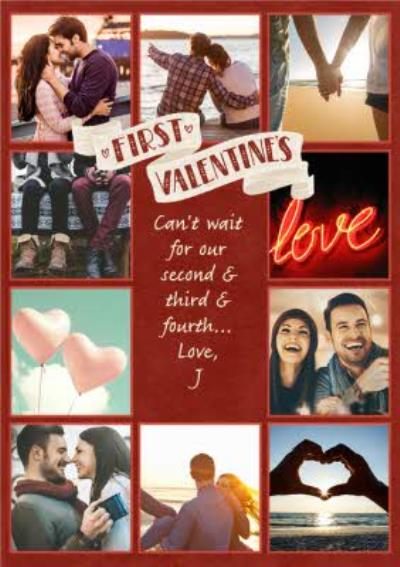 Multi-Photo First Valentine's Day Personalised Card