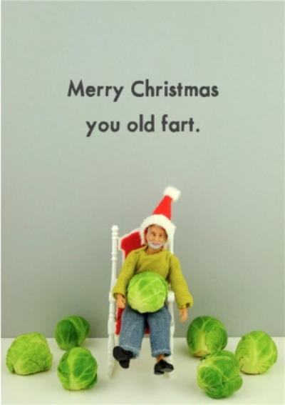 Funny Dolls Old Fart Christmas Card