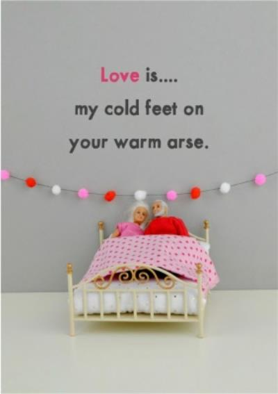 Funny Dolls Love Is Cold Feet Card