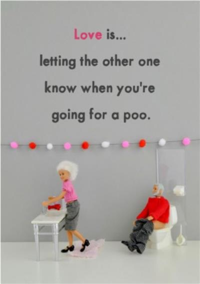 Funny Dolls Love Is Letting One Another Know Card