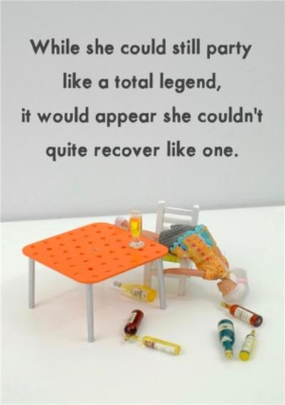 Funny Dolls Party Like A Total Legend Card