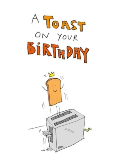 A Toast On Your Birthday Funny Card