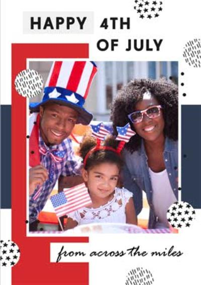 Across The Miles Fourth Of July Photo Upload Card