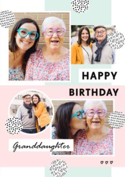 Bougie Happy Birthday Granddaughter Multi Photo Upload Card