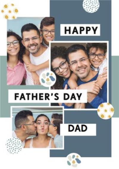 Bougie Happy Father's Day Dad Multiple Photo Upload Card
