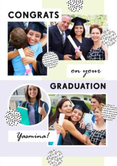 Bougie Congratulations On Graduating Personalised Photo Upload Card