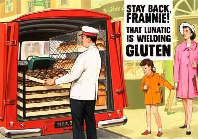 Funny Birthday card - Stay back - Welding Gluten