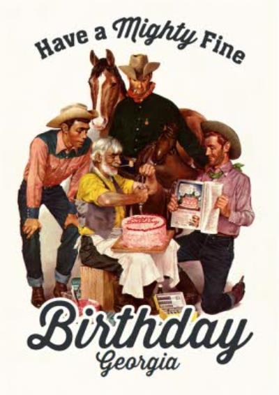 Mighty Fine Cowboy Birthday Card