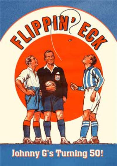 Vintage Football Soccer Pun Card