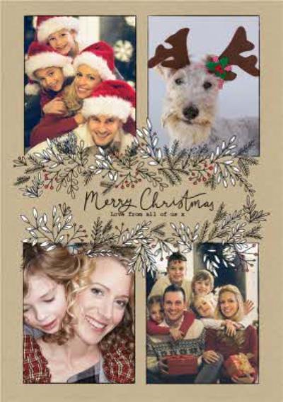 Botany Merry Christmas 4 Photo Upload Card