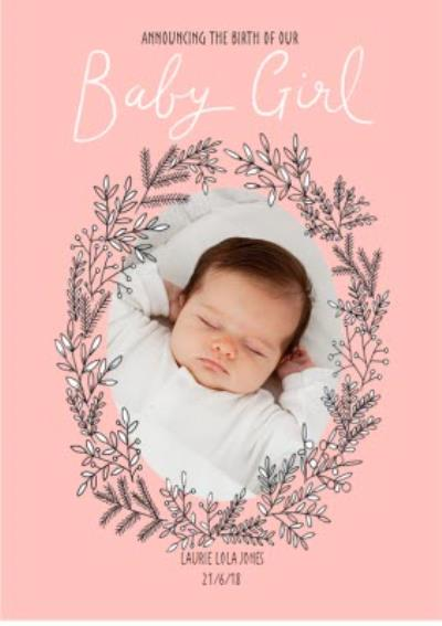 Announcing Our Baby Girl Photo Upload Card