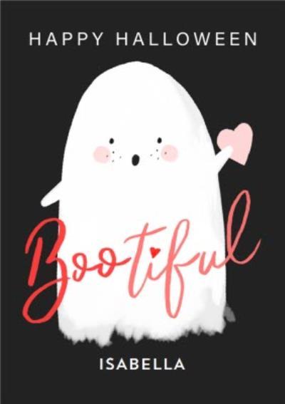 Boo To You Cute Ghost Bootiful Halloween Card