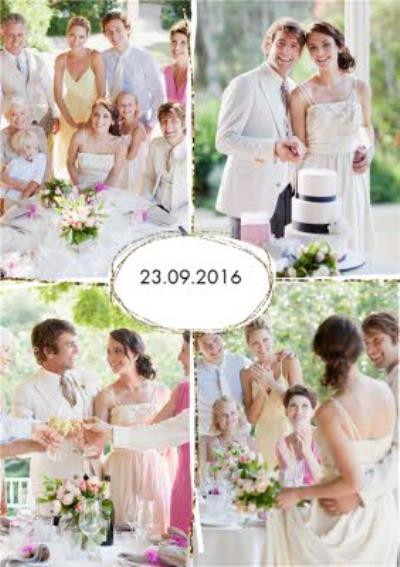 Wedding Date Personalised Photo Wedding Day Thank You Card