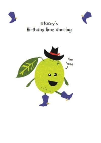 Birthday Lime Dancing Pun Card