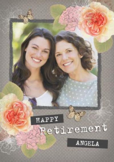 Happy Retirement Photo Upload Card