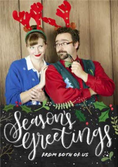 Seasons Greetings From The Both Of Us Photo Christmas Card