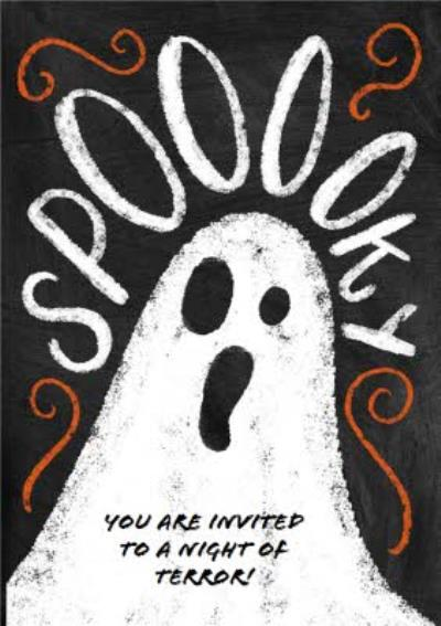 Spooky Ghost Halloween Party Invitation