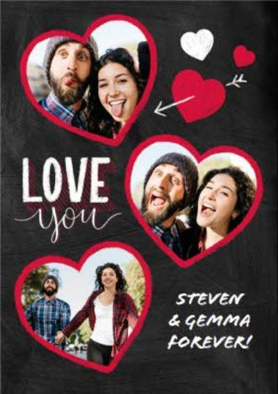 Multi-Heart Love You Valentines Day Card