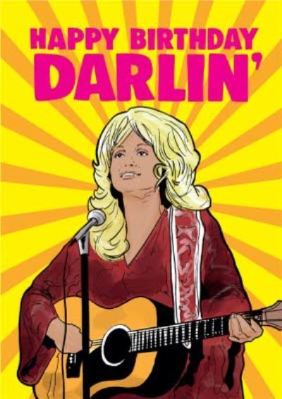 Cheeky Chops Happy Birthday Darlin Card