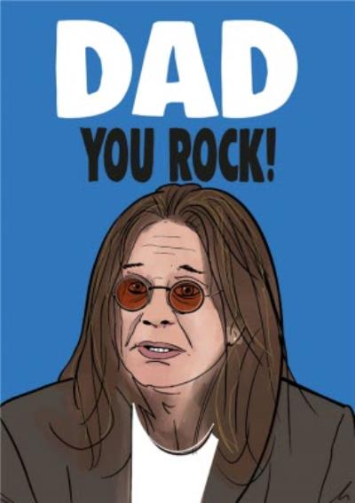Cheeky Chops Dad You Rock Father's Day Card