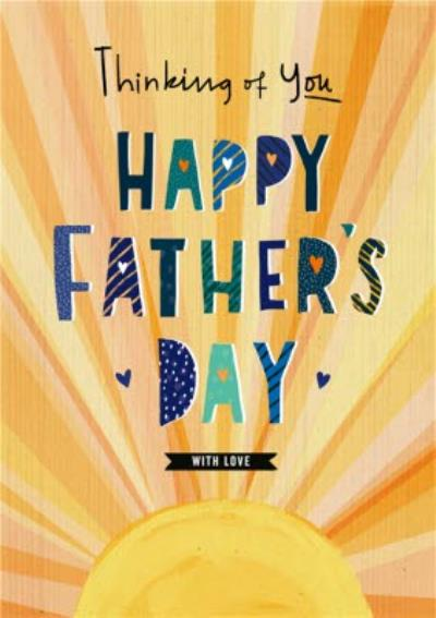 Illustrated Sunshine Thinking Of You Father's Day Card